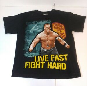 WWE John Cena T-Shirt CHILDS SIZE LARGE Live Fast Fight Hard Wrestling