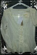 DKNY♡ELEGANT♡CREAM♡IVORY BLOUSE♡SHIRT♡TUNIC♡RUFFLE♡TIERED♡SOLD OUT♡BOHO♡NWT♡S