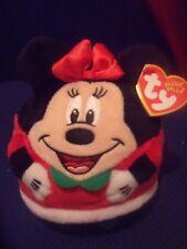 Ty Beanie Ballz Disney Licensed Christmas Minnie Mouse 2013 Retired