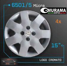 4 Original MURAMA 6501/5 Radkappen für 15 Zoll Felgen NISSAN MICRA GRAU NEU