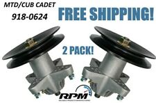 TWO PACK OF CUB CADET MTD TROY-BILT 918-0624B SPINDLE ASSEMBLY w/FREE HARDWARE!