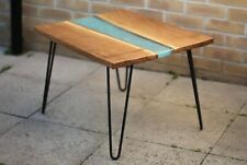 Two Wood Epoxy Resin Side Tables