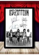 More details for (#380) led zeppelin signed a4 photograph framed/unframed (reprint) great gift