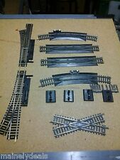 MIXED LOT OF 11 ATLAS SNAP TRACK TRANSITIONS CURVED STRAIGHT NICKEL SILVER