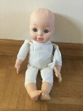 Geoffrey Toys R Us You Me Baby Boy Doll Soft Body Laughs Giggles Blue Eyes