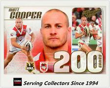 2012 Select NRL Dynasty Triple 200 Game Case Card Cc29 Paul Gallen (sharks)