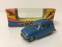 Norev Minijet Die Cast Model Renault 4L In Blue Still In Original Box