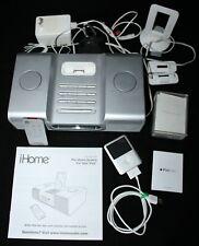 Lot iPod Nano 3rd Gen 4GB Silver 592 Songs & Box / iHome 8 Player Remote Control