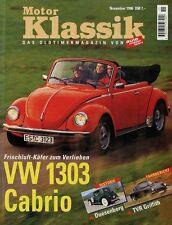 Motor Klassik 11/96 1996 VW 1303 S Cabrio Alfetta Rekord A Coupé 6 TVR Griffith