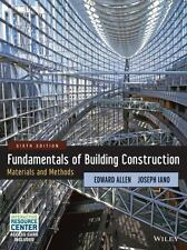 NEW - Fundamentals of Building Construction: Materials and Methods