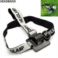Headband/Helmet Strap Mount Head Strap For LED Headlamp/Head Bike light Lamp US