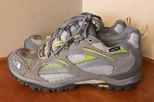 H55 The North Face Womens Sz 9 Gore-Tex Gray Green Hiking Shoes Vibram Athletic