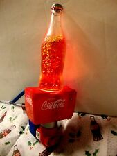 COCA COLA SPARKLE CONTINUOUS MOTION NIGHT LIGHT OUTLET LAMP GLITTER SOFT GLOW