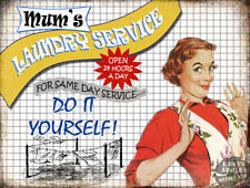 MUM'S LAUNDRY SERVICE: FUNNY   METAL SIGN: HOME DECOR:KITCHEN GREAT GIFT