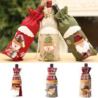 Santa Wine Bottle Cover Wine Bag Christmas Gift Holder Xmas Decor Table Decor