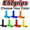 ESI Racer's Edge Bike Grips 100% Silicone Shock Absorbing 130mm 50g Choose Color
