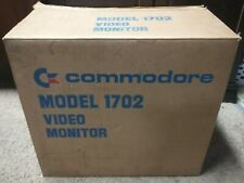 Vintage Commodore Video Monitor Model 1702 with Box & Manual Excellent Condition