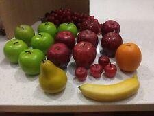 Lot Of Fake Fruit Apples Orange Grape Banana