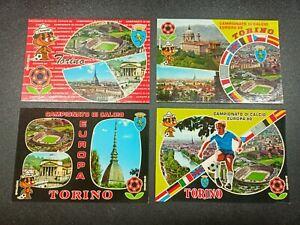 Lotto Serie 4 Cartoline Campionato di Calcio - Europa 80 - Torino