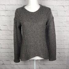 HELMUT LANG Sweater Women's Beige Alpaca Wool Blend Size S Long Sleeve High Low
