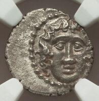 150-50 BC Ancient Greece Caria Halicarnassus AR drachma AU Helios Rising