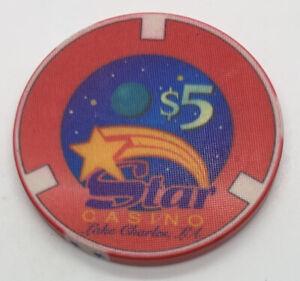 Star Casino $5 Gaming Poker Chip - Lake Charles LA