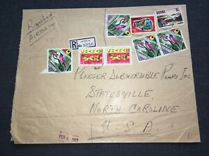 Ghana: 1969 registered cover from Accra w/ 1967 Definitive & Tourist Year stamps