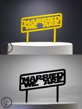 Married We Are - A Yoda Star Wars themed Wedding Cake Topper