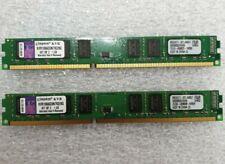 8GB (2 x 4GB) KINGSTON DDR3-1066/PC3-8500 Low Profile Desktop RAM  KVR1066D3N7K2