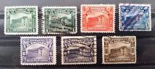 EL SALVADOR - 1916 - National Theatre - Lot of 7 stamps