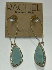 Rachel Roy Earrings Gold Tone New Over Stock With Tags