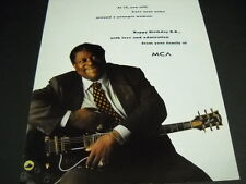 B.B. King at 70 he still has his arms around a younger woman 1995 Promo Ad mint