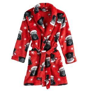 Darth Vader Christmas Star Wars Robe Size 6,8 Boys Bathrobe One Piece Pajama NEW
