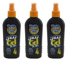 3x Ocean Potion Suncare Dark Tanning Spray Gel SPF 4  8.5 OZ. Oil Free Sun Tan