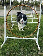 Dog Agility Equipment Set - Jump Hoop Weave Poles