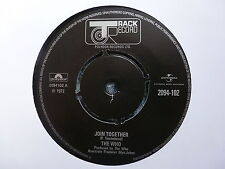 """THE WHO 45 RPM 7"""" - Join Together / Baby Don't You Do It"""