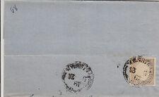SARDEGNA-10c(14Cc)-Parte di lettera Messina 13.6.1861