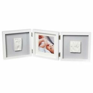 Baby Art My Baby Style Double Print Hand & Footprint Keepsake - Grey Or White