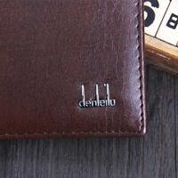 AU_ Top Quality Men's Bifold Leather Wallet Credit Card Holder Short Purse Sight