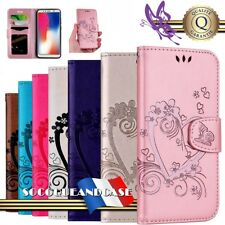 Etui Coque housse Coeur PU Leather Wallet Case Cover Wallet pour HUAWEI P smart