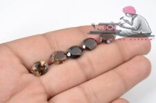 Natural Smoky Quartz 8x10mm Oval Faceted Cut 10 Pieces Loose Gemstone Lot
