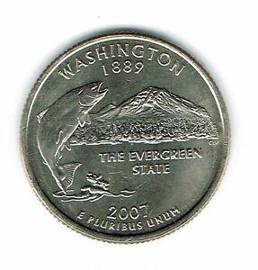 2007-P Philadelphia  Brilliant Uncirculated Washington 42TH State Quarter Coin!