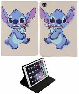 For Apple iPad Mini 1 2 3 4 5 Lilo & Stitch New Smart Cartoon Stand Case Cover