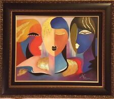 """Arbe - """"Messages"""" Original Oil on stretched Canvas, hnd sgnd,Frmd w/cert of Auth"""