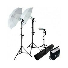 Photo Lighting Kit Studio Portrait Umbrella Stand Bulb Photography Fluorescent W