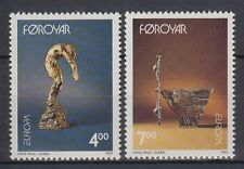 Îles Féroé 1993 ** mi.248/49 Art Nature | sculptures sculputures | Hans Pauli Olsen