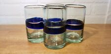 HAND BLOWN GLASSES SET OF 4 MADE IN MEXICO