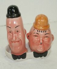 Meissen Germany Vintage Laurel and Hardy Salt & Pepper Shakers in Tray Mint!