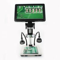 Professional 7'' 1080P HD Digital Mikroskop 12MP Zoom Video Vergrößerung Gerät