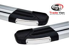 FORD RANGER SIDE STEPS RUNNING BOARDS BRILLIANT SILVER 2012-15 SIDEBARS